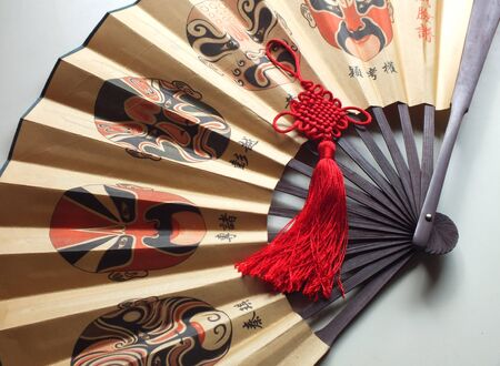 paper fan: Chinese paper fan Editorial