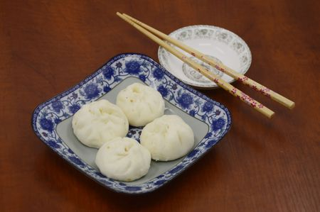 buns: Traditional steamed buns Stock Photo