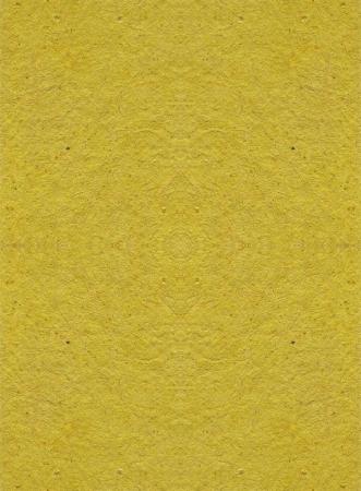 Textured Yellow Handmade Paper Background photo