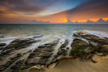Mossy stone beach sabah