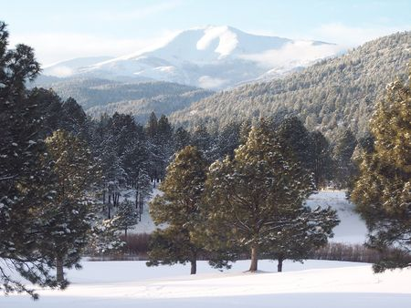 sierra: Sierra Blanca, Mescalero, NM Stock Photo