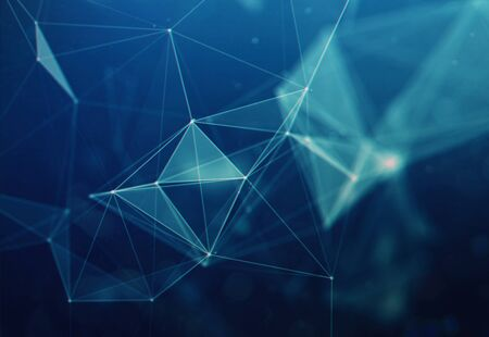 Connection structure. Science background. Futuristic polygonal background. Triangular background. Wallpaper. Business