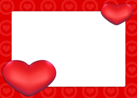 cordial: Valentine Card with red hearts