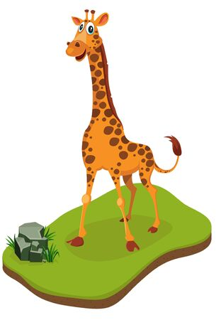 Isometric Giraffe standing. Can be used in Isometric based games photo