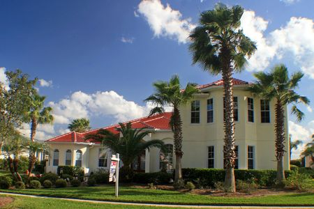 A spectacular Florida home on a nice sunny day.