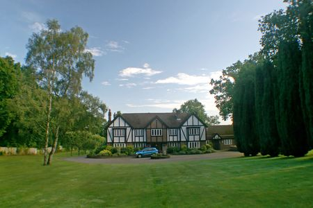 A Large Estate home, tudor style, in the UK. photo