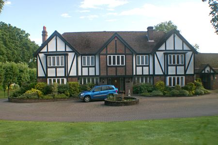 A Large Estate home, tudor style, in the UK Stock Photo