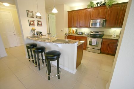 An Interior Shot of a Kitchen in a Property Stock Photo - 5809840