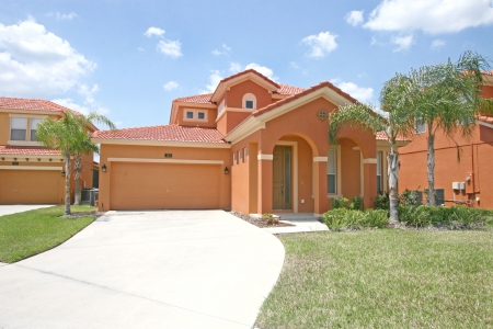 residential homes: The Front Exterior of a Florida Home Stock Photo