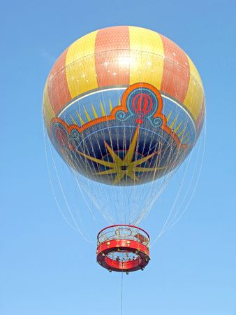 A Hot Air Balloon up in the sky photo