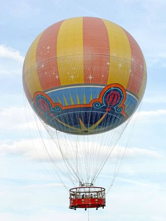 A Hot Air Balloon ride up in the sky
