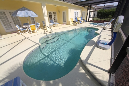 A Swimming Pool and a Large Spa Stock Photo - 10185030