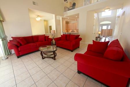 Een interieur shot van een woonkamer in een Home
