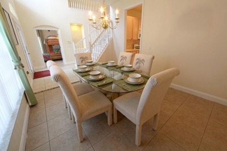 An Interior Shot of a Dining Room in a Home Stock Photo - 16218629