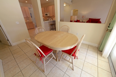 An Inter Shot of a Breakfast Area of a Home Stock Photo - 16216249
