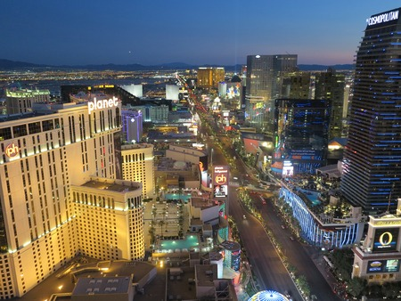 las vegas lights: View of Las Vegas from high up in the air