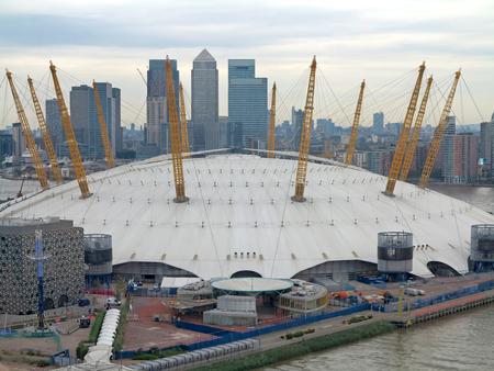 venue: The O2 in London, England, entertainment venue. Editorial