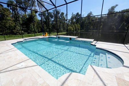 A new Swimming Pool with Lake View in Florida