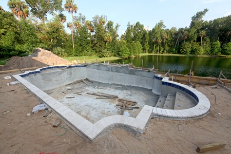 A Swimming Pool under construction in Florida Stok Fotoğraf - 34437119