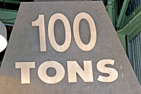 tons: A large weight which says 100 tons