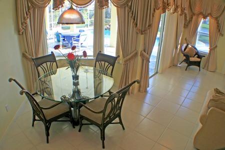 nook: A breakfast area an a Florida Home. Stock Photo
