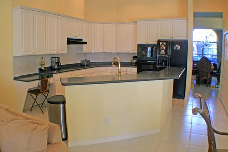 A modern kitchen in a Florida Home.