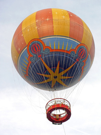 gas ball: A Hot Air Balloon ride up in the sky.