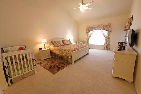 master bedroom: An interior shot of a master bedroom Stock Photo