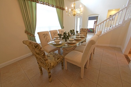 dwell house: An interior shot of a dining room in a home.