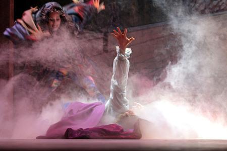 enchantress: ORLANDO, FLORIDA - December 2, 2006 - Beauty and the Beast show is Hollywood Studios at Walt Disney World where the enchantress turns the beast back into a man.