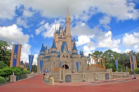 ORLANDO, FLORIDA - October 8, 2008 - The Walt Disney World Cinderella Castle in Magic Kingdom. Editorial