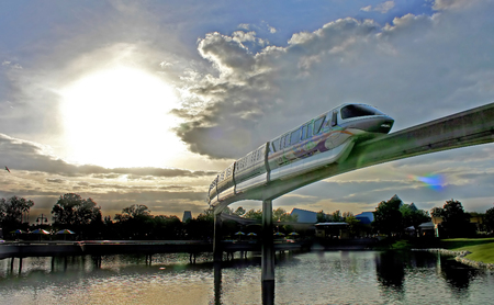 ORLANDO, FLORIDA - January 12, 2007 - The Walt Disney World monorail going through Epcot