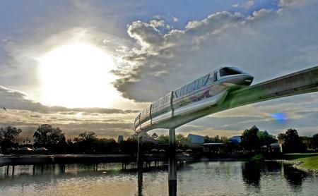 ORLANDO, FLORIDA - January 12, 2007 - The Walt Disney World monorail going through Epcot