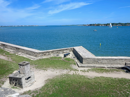 marcos: The Castillo de San Marcos Fort in St Augustine, Florida looking towards the Atlantic