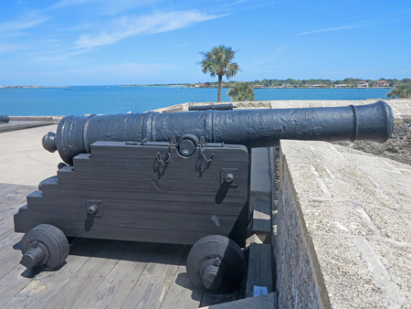 marcos: A Cannon at the Castillo de San Marcos Fort in St Augustine, Florida.