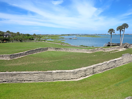 augustine: The Castillo de San Marcos Fort in St Augustine, Florida looking towards the Atlantic