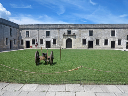 marcos: Inside the Castillo de San Marcos Fort in St Augustine, Florida. Stock Photo