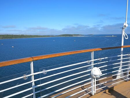 nova scotia: The view of McNabs Island, Halifax, Nova Scotia, Canada from a cruise ship