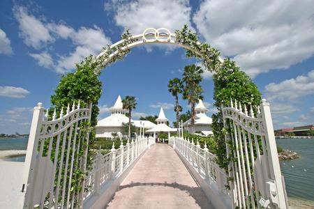 Banque d\u0027images , ORLANDO, FLORIDE , 25 Avril 2009 , Le Pavillon de mariage  de Disney à Walt Disney World.