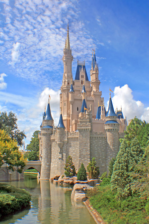 ORLANDO, FLORIDA - October 8, 2008 - Cinderella Castle in Magic Kingdom, Walt Disney World.