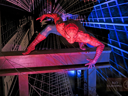 spiderman: LAS VEGAS, NEVADA - September 12, 2012 - Spiderman at Madame Tussauds in Las Vegas.