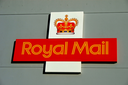 royal mail: RINGWOOD, HAMPSHIRE, UK - November 3, 2006 - A Royal Mail Sign on the side of a building