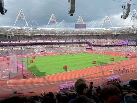 summer olympics: LONDON, ENGLAND - August 3, 2012 - Athletics in the Olympic Stadium for the Summer Olympics in London 2012 Editorial