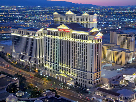 A view of Caesars Palace in Las Vegas from the Eiffel Tower Editorial