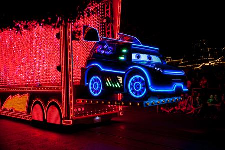 ANAHEIM, CALIFORNIA - September 21st, 2015 - Disneylands Paint the Night Parade Editorial