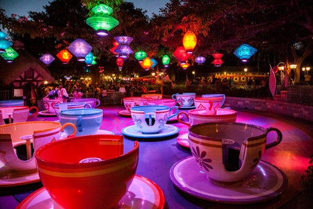 ANAHEIM, CALIFORNIA - September 20th, 2015 - Disneylands Mad Tea Party
