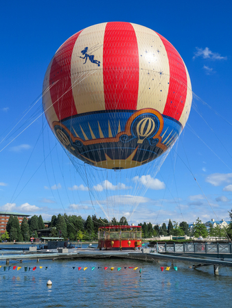 MARNE-LA-VALLEE, FRANCE - July 29th, 2016 – The PanoraMagique Balloon is Disney Village at Disneyland Resort Paris