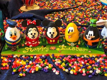 ORLANDO, FLORIDA - March 29th, 2018 - Disney Chocolate Easter Eggs in Disney Worlds Beach Club Resort