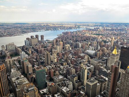 A view of New York City from the Empire State Building