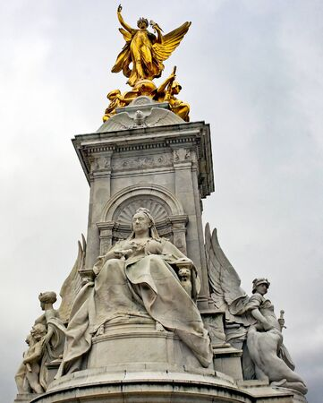 The Queen Victoria Memorial in London, England